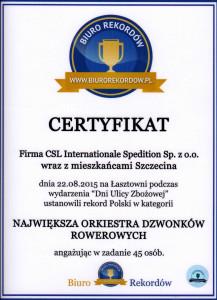 Rekord Polski Najwieksza Orkiestra Dzwonkow Rowerowych 22.08.2015